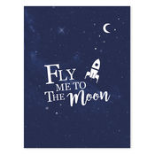Fly me to the Moon – Poster van Lilipinso