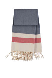 Hamamdoek Hamptons - Navy blue-Red van Mocco