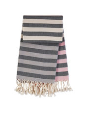 Hamamtuch RESORT 4 - Grey - Soft pink von Mocco
