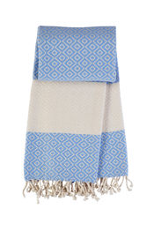 Hamamdoek Porcelaine - Serenity light blue van Mocco
