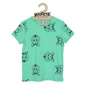 T-Shirt wolfpack turquoise van Six Hugs & Rock 'n Roll