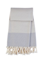 Hamamdoek Seaside - Light grey  van Mocco