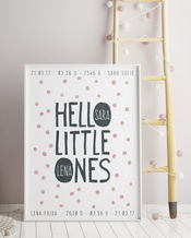Babyposter Hello Little Ones von Printcandy