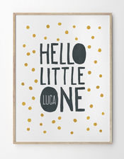 Babyposter Hello Little One von Printcandy