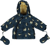 Baby Winter Jacket Pinguin Bluestone van Smafolk