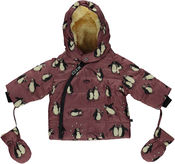 Baby Winter Jacket Pinguin Mesa Rose van Smafolk
