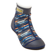Bekijk Beachsocks crocodile grey kobalt van Duukies Beachsocks