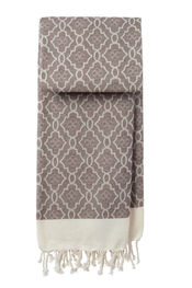 Hamamtuch Mosaic - Light brown von Mocco