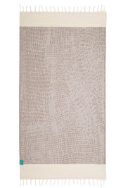 Hammamdoek Graphic Snake - Light brown  van Mocco