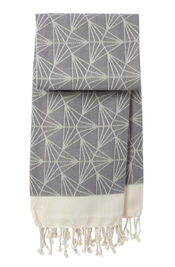 Hammamdoek Triangel - Dark grey van Mocco