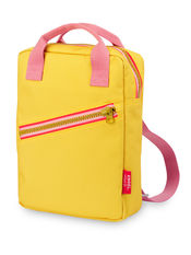 Rugzak small 'Zipper Yellow' van Engel.
