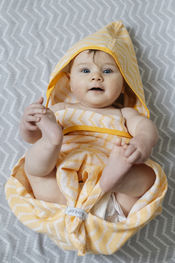 Blenker Hooded Towel - Yellow (M) van KipKep