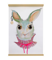 Funky Rabbit van Gwennieslab.illustraties